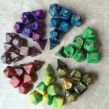 Mix colored dice